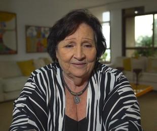 Dona Déa, mãe de Paulo Gustavo, em entrevista ao 'Fantástico' | Reprodução