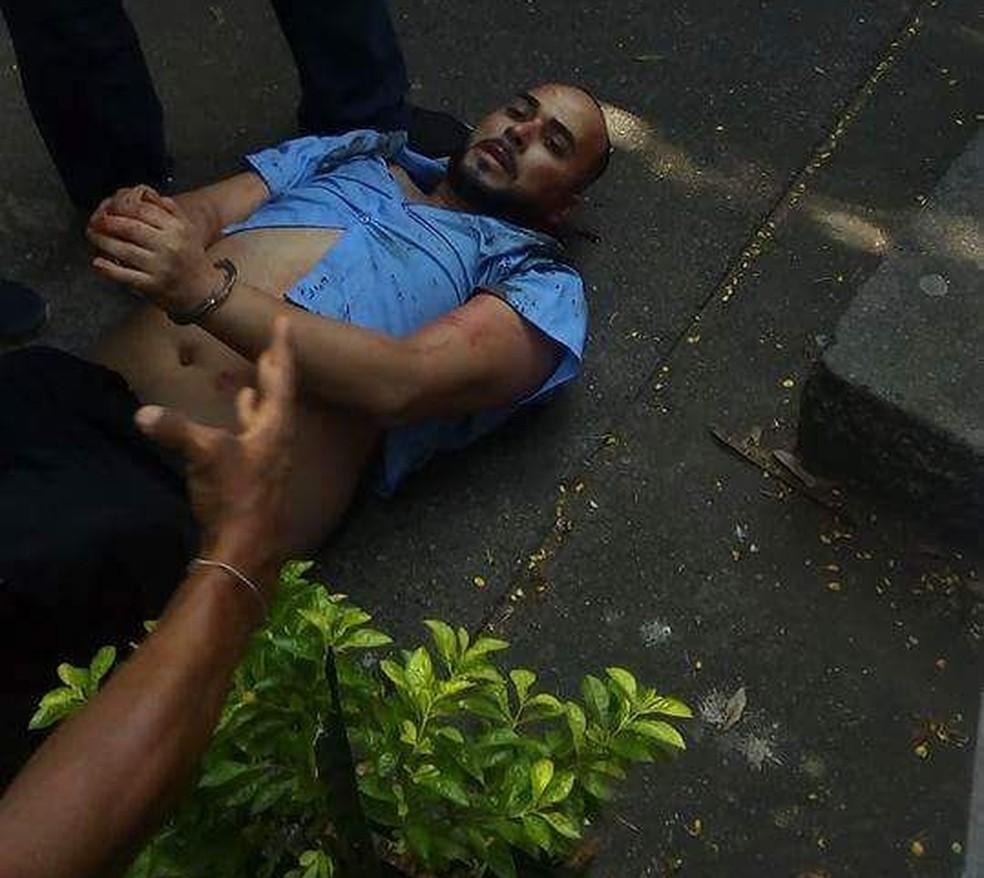 Jonny Neves dos Santos, marido de Andressa, foi detido por policial na Praça Saens Peña (Foto: Reprodução/ OTT-RJ )