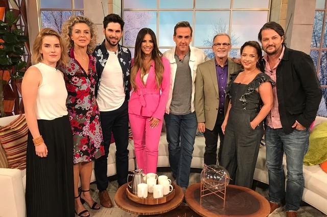 Marcelo Serrado no programa 'Un nuevo día' (Foto: Arquivo pessoal)
