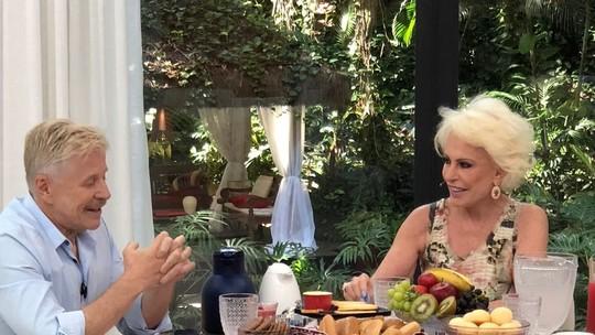 Miguel Falabella se emociona ao falar de Marisa Orth no 'Mais Você': 'A gente se entende no olhar'