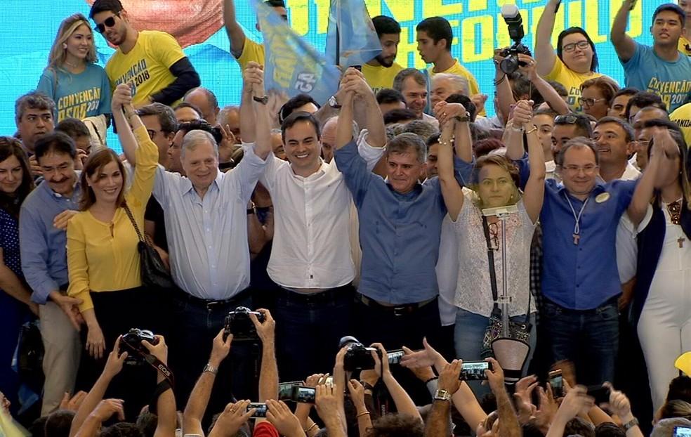 General Theophilo foi o nome escolhido pelo PSDB para disputar o Governo do Ceará. (Foto: Reprodução/TV Verdes Mares)