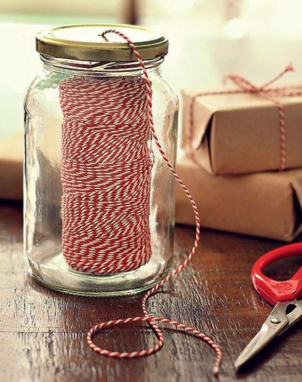 Potes de vidro: Costura (Foto: Pinterest/Reprodução)