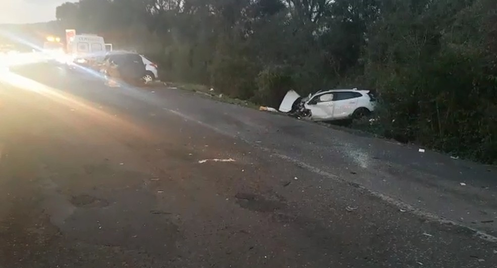 Acidente acontecei por volta das 4h, na BR-386. — Foto: Polícia Rodoviária Federal/Divulgação