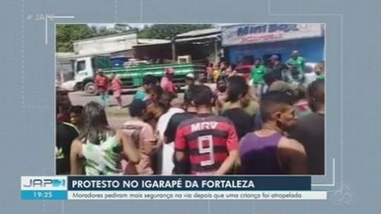 Criança é atropelada e arrastada por veículo próximo ao Igarapé da Fortaleza, em Santana