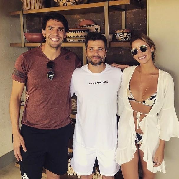 Kaká, Carol e Bruno Gagliasso (Foto: Reprodução)
