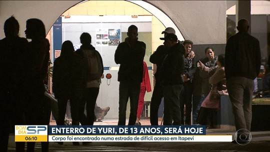 Vai ser enterrado o corpo de Yuri Juan que estava desaparecido em Itapevi