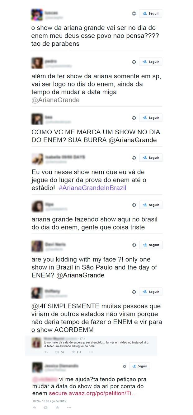 Ariana Grande Atriz Porno ego - fãs de ariana grande reclamam de show no mesmo dia de