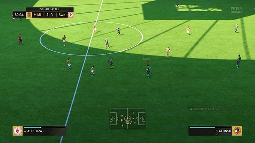 Aproveite os minutos finais das partidas do Squad Battles de Fifa 18 (Foto: Reprodução/Murilo Molina)