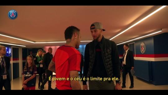 """Stephen Curry não poupa elogios a Neymar: """"O céu é o limite para ele"""""""