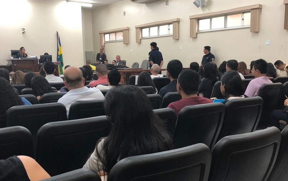 Julgamento de um dos acusados de matar e esquartejar o professor universitário aconteceu nesta quinta-feira (11).  — Foto: TJ-RO/ Divulgação