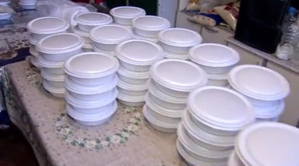 Agressor devia o valor de 5 marmitas que comprou há 2 meses. — Foto: TV Morena/Reprodução