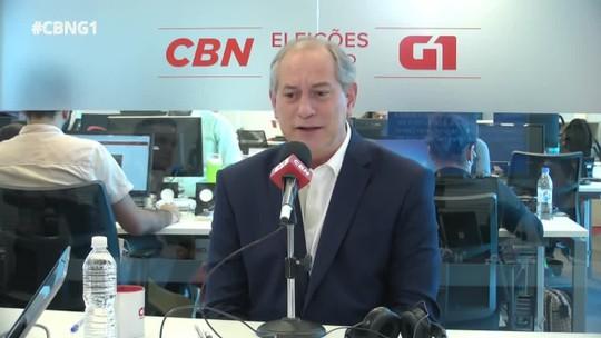 Veja o que é #FATO ou #FAKE na entrevista de Ciro Gomes ao G1 e à CBN