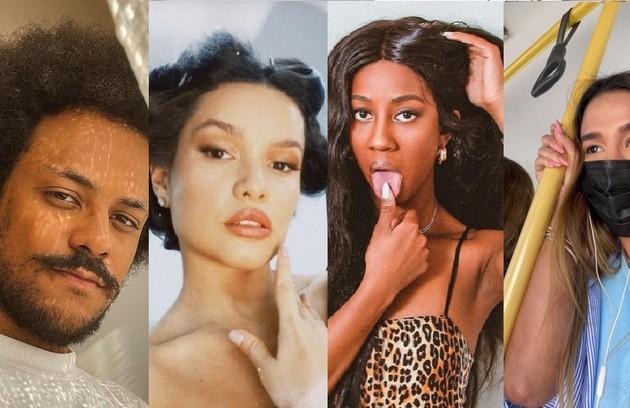 João Luiz, Juliette, Camilla de Lucas e Kerline são alguns ex-participantes do 'BBB' 21 que se divertem com a vida após quatro meses de atração (Foto: Reprodução)