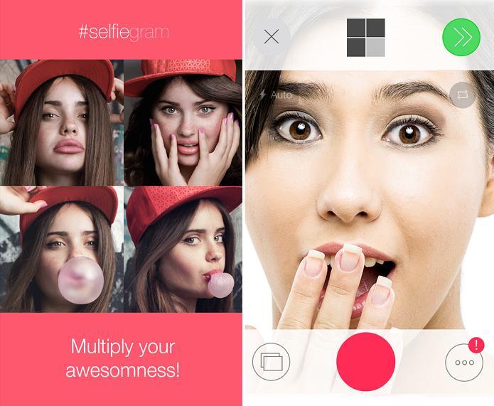 #selfiegram é um app para tirar várias selfies e fazer montagem (Foto: Divulgação)