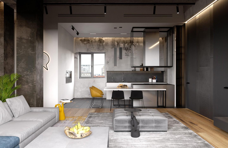 Décor do dia: parede descascada e decoração minimalista na cozinha (Foto: Divulgação)
