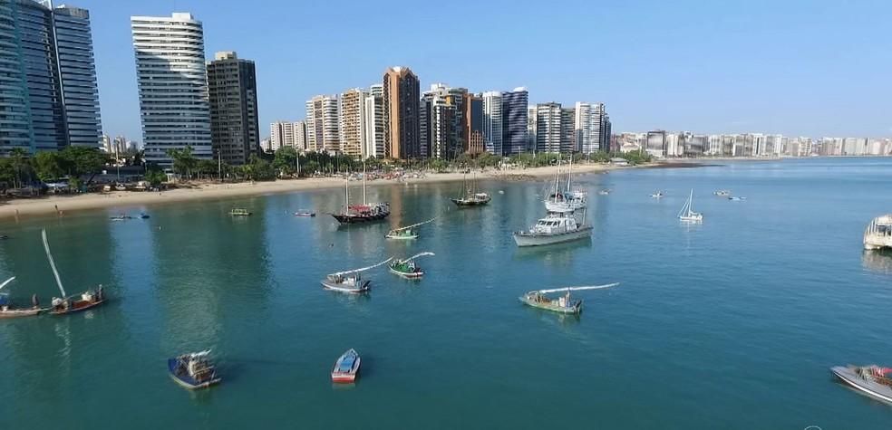 -  Litoral de Fortaleza  Foto: TV Verdes Mares/Reprodução