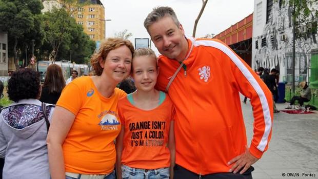 Família Tangelder, da Holanda, se espantou com a cultura do abraço (Foto: N.Pontes/DW)