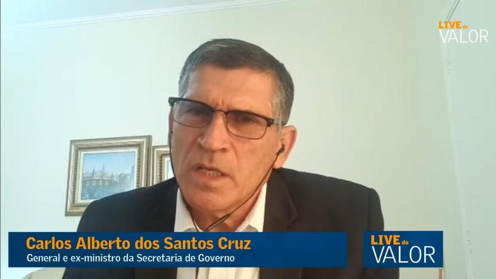 Carlos Alberto dos Santos Cruz, general e ex-ministro. — Foto: Reprodução