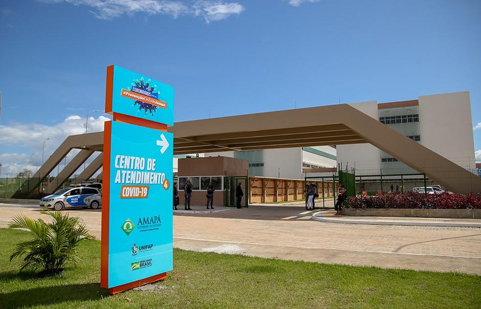 Centro Covid do Hospital Universitário (HU) de Macapá, no Amapá — Foto: Secom/GEA