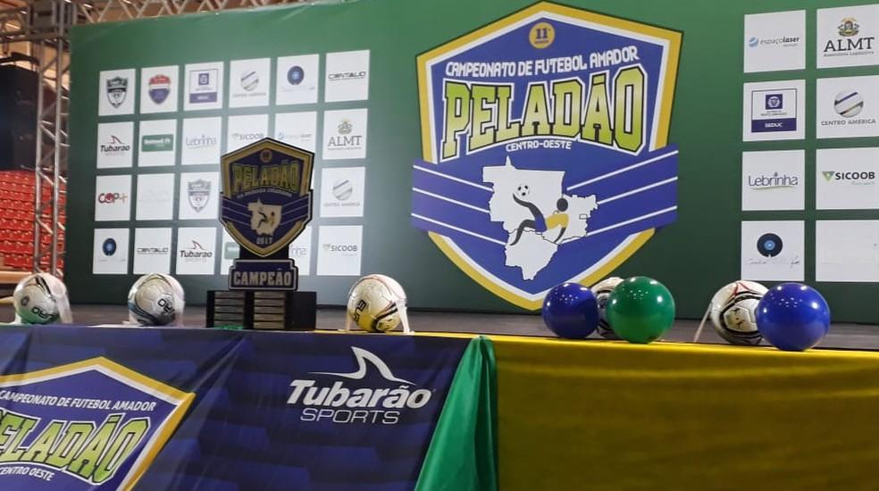 Lançamento Peladão 2018 foi realizado no ginásio Aecim Tocantins  (Foto: Flávio Santos/TVCA)