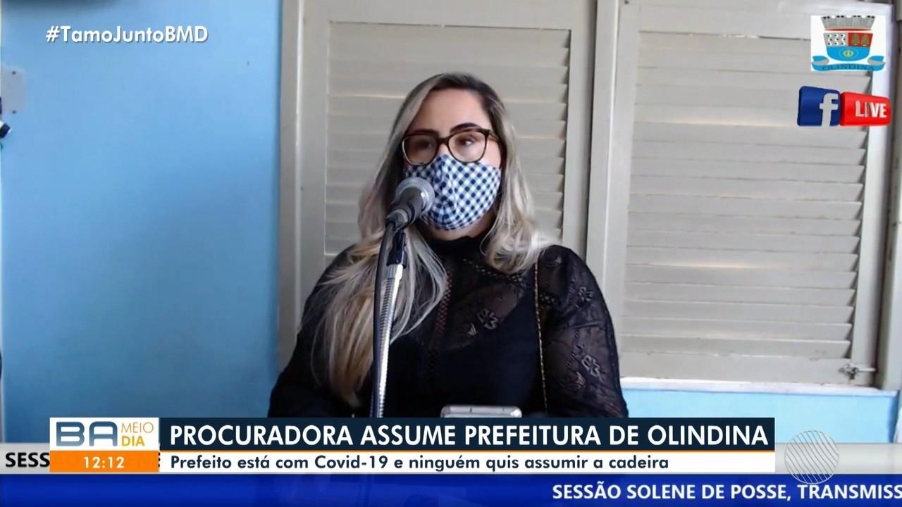 Procuradora assume a prefeitura de Olindina após cidade passar 10 dias sem prefeito