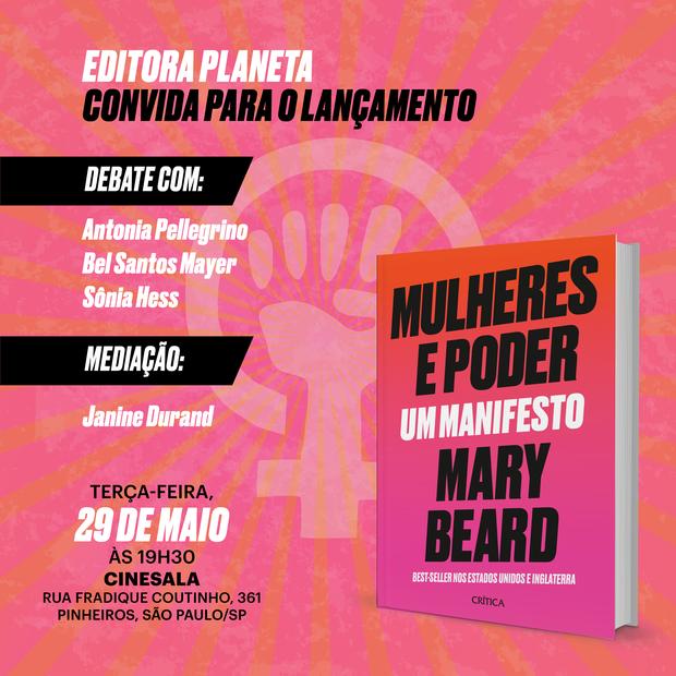 Mulheres e Poder: o livro da historiadora britânica Mary Beard é tema de um bate-papo promovido pela editora Planeta em parceria com Marie Claire (Foto: Divulgação)