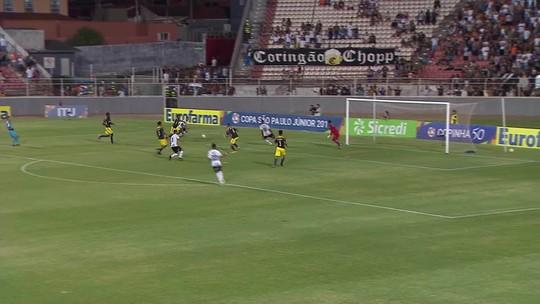 Prêmio Dener: gol de Fabricio Oya, do Corinthians, é o mais bonito da terceira fase da Copinha