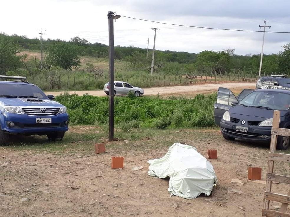 Polícia Civil foi até a fazenda para atender a ocorrência na zona rural da cidade de Tauá, no Ceará. — Foto: Divulgação