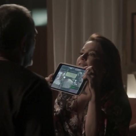 Vivianne Pasmanter e Humberto Martins como Lili e Germano em 'Totalmente demais' (Foto: Reprodução)