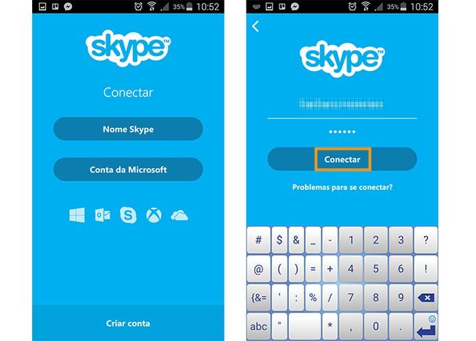 Abra o Skype e acesse sua conta no mensageiro (Foto: Reprodução/Barbara Mannara)