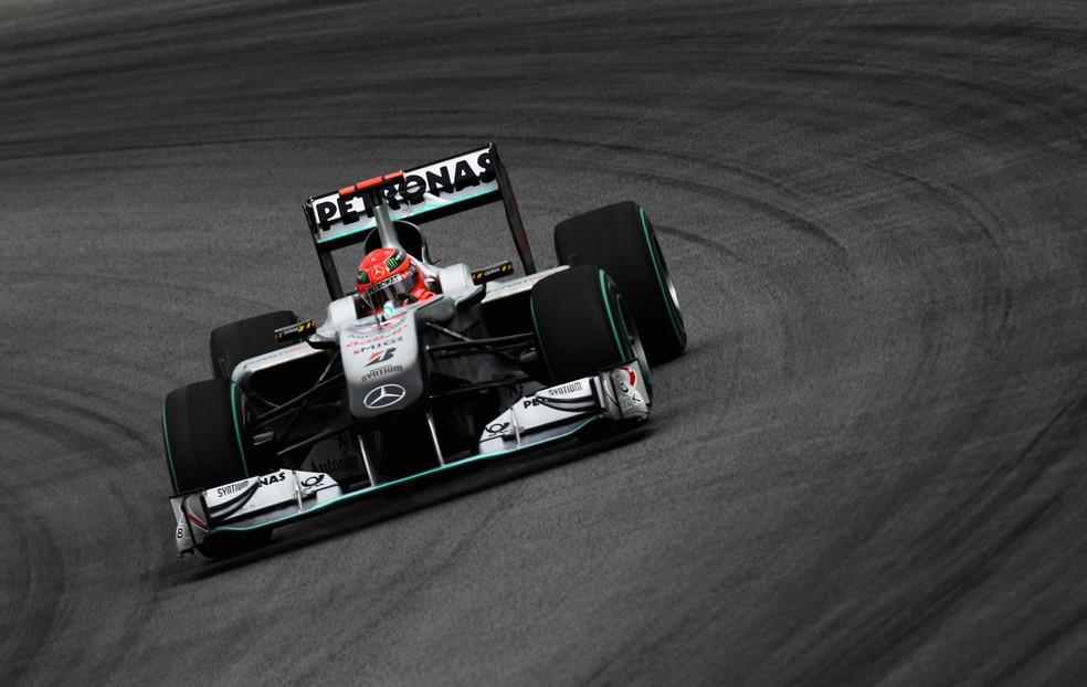 Michael Schumacher voltou à Fórmula 1 em 2010 — Foto: Getty Images