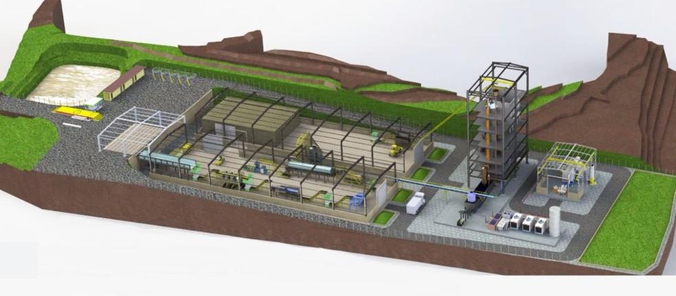 Usina que irá gerar energia elétrica a partir do lixo será construída em Boa Esperança (Foto: Divulgação/Furnas Centrais Elétricas)