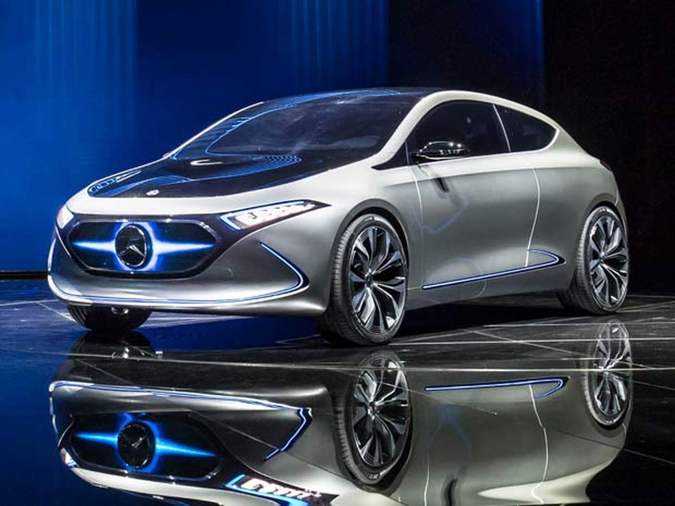 6772fb6f5 ... Mercedes-Benz EQA Concept mostrado no ano passado — Foto: Divulgação