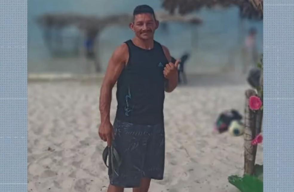 Evanuel Santos, de 39 anos, está entre os pescadores desaparecidos na embarcação em Natal — Foto: Reprodução/Inter TV Cabugi