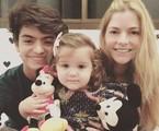 Ana Paula Tabalipa com o filho mais velho e a caçula | Divulgação
