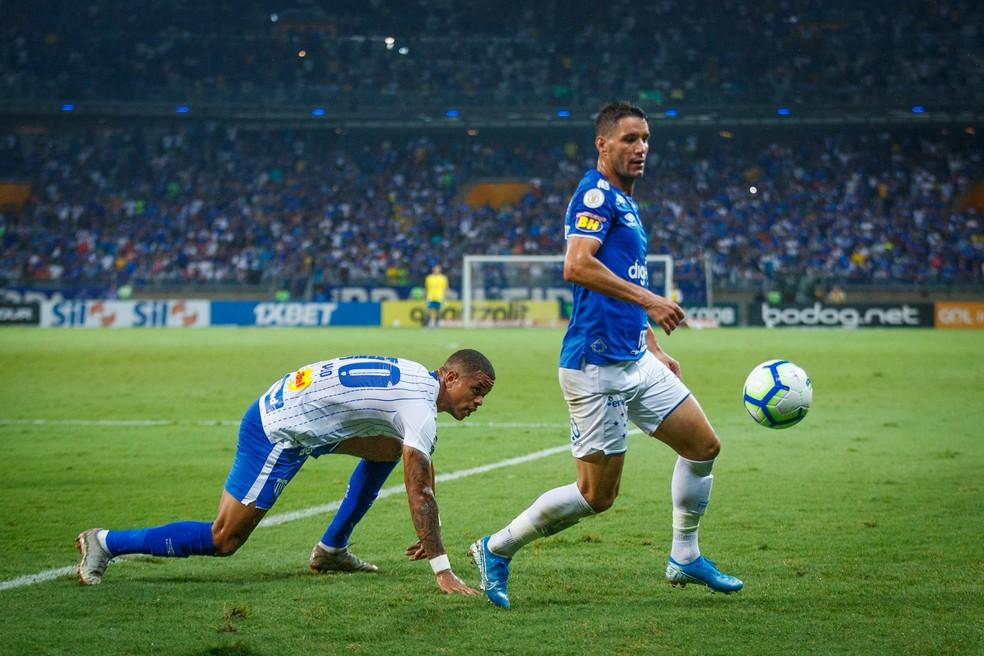 Thiago Neves durante partida entre Cruzeiro e Avaí, no Mineirão, nessa segunda-feira — Foto: Vinnicius Silva/Cruzeiro