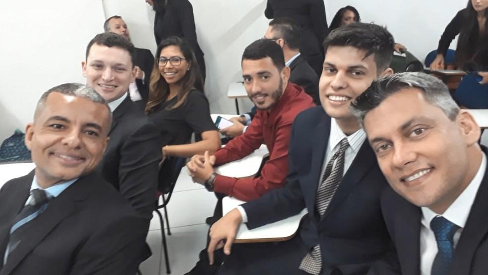 Lucas agradeceu o apoio dos colegas de turma durante o curso, no ES  — Foto: Reprodução/ TV Gazeta