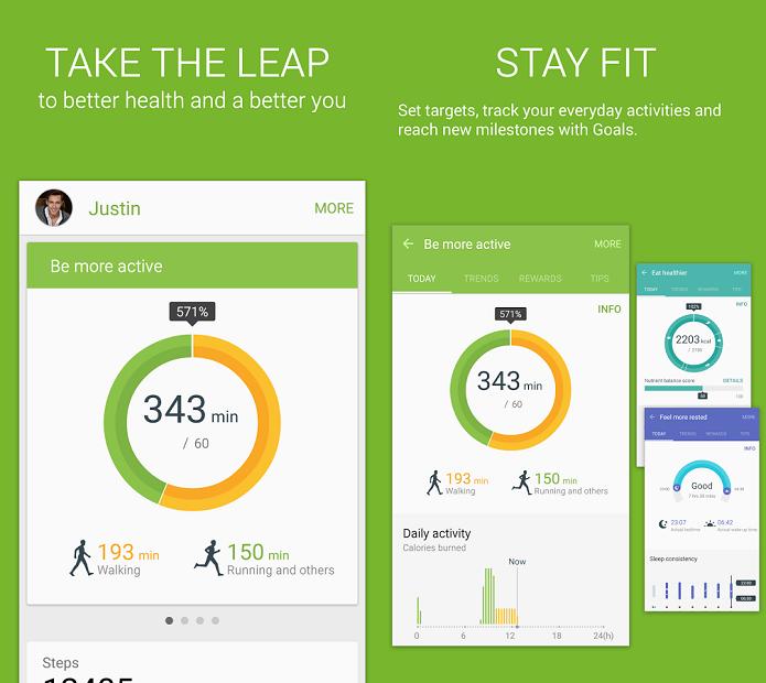 S Health agora pode ser baixado pelo Google Play (Foto: Divulgação)