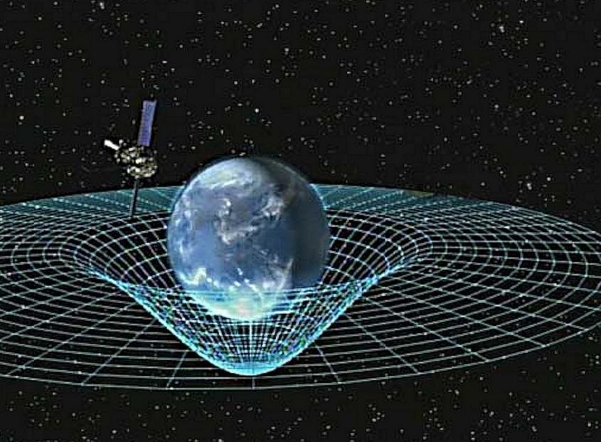 2-Representação bidimensional da distorção causada pela massa de um objeto: isso é a gravidade (Foto: Wikimedia Commons)