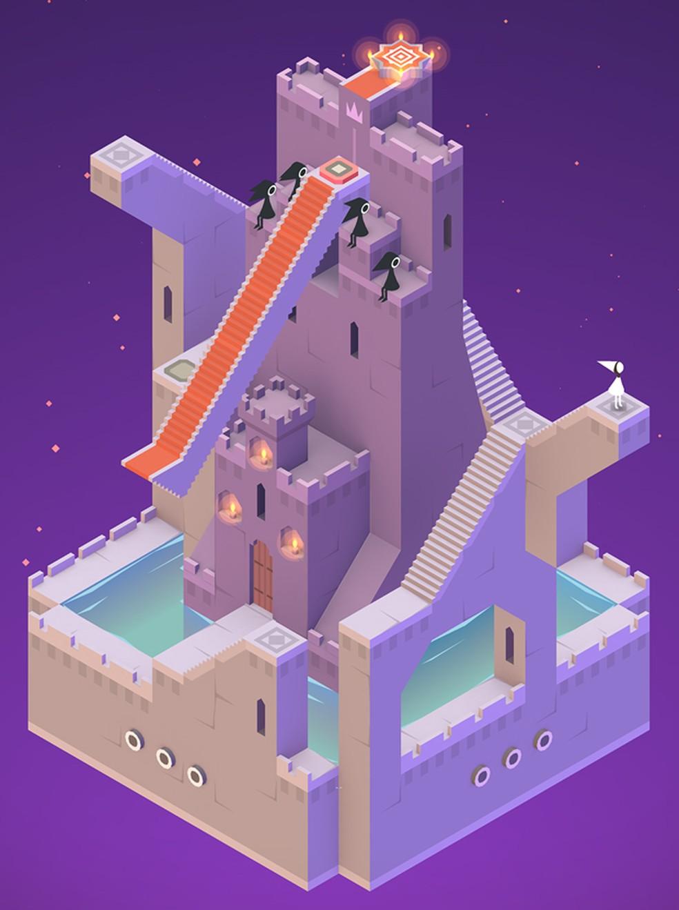 'Monument Valley' tem construções complexas e geometricamente impossíveis (Foto: Divulgação/ustwo)