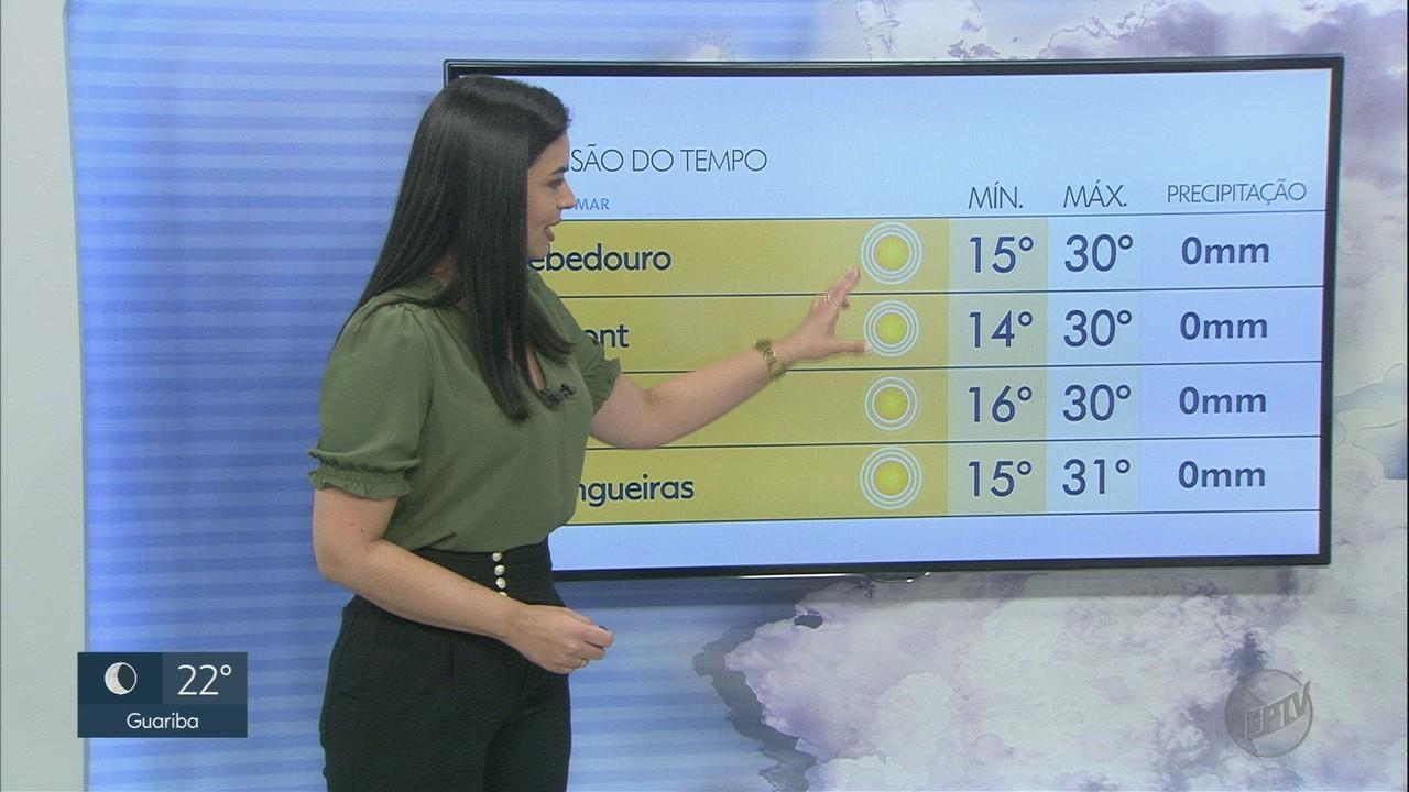 Veja a previsão do tempo para este sábado (10) na região de Ribeirão Preto
