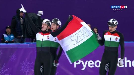 Hungria quebra o recorde olímpico e leva o ouro no revezamento masculino de 5000m