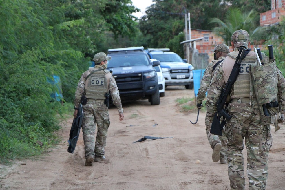 Suspeito de roubos a banco e de participar da morte de PM em Pernambuco morre após confronto na Bahia — Foto: Ascom-PC / Haeckel Dias