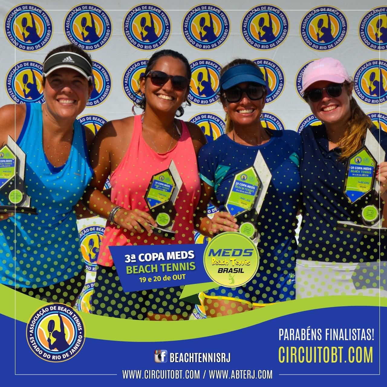 As finalistas, à esquerda, e campeãs da feminina C