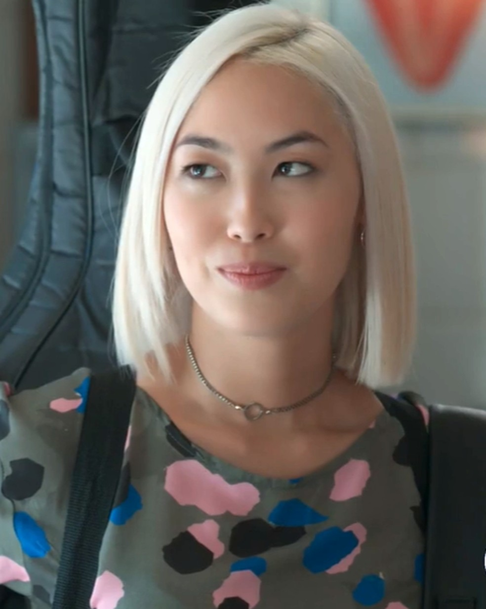 Tina (Ana Hikari) revê Anderson (Juan Paiva) em 'Malhação - Viva a Diferença' — Foto: Globo