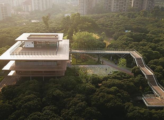 Biblioteca em Xiangmi Park (Foto: Divulgação)