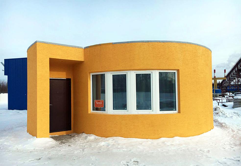 Paredes da casa são impressas com concreto em menos de 24 horas (Foto: Divulgação/Apis Cor)