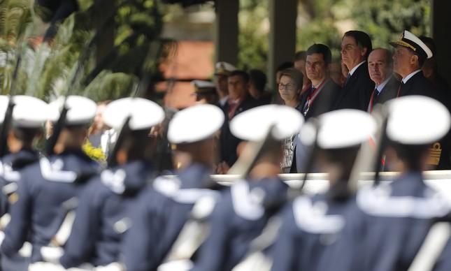 O presidente na comemoração da Batalha Naval do Riachuelo