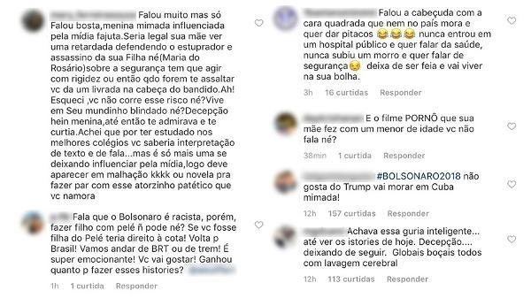 Sasha é atacada por defensores de Bolsonaro nas redes sociais (Foto: Reprodução/Instagram)