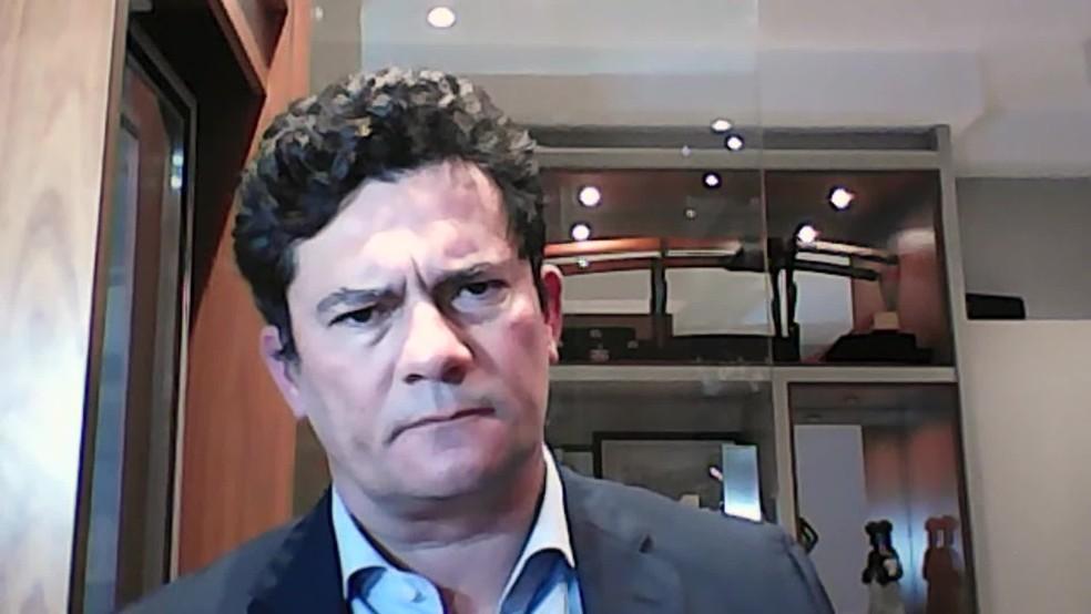 Moro fez um balanço de sua atuação como Ministro da Justiça — Foto: Reprodução/Gnews